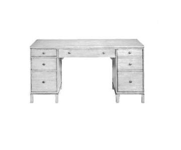 Ethan Allen Antique White Tango Double Pedestal Desk