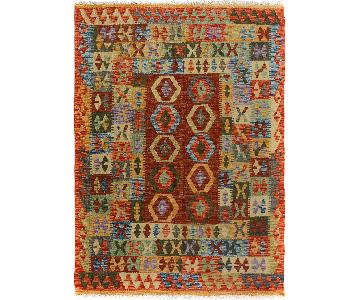 Arshs' Fine Rugs Kilim Arya Junior Gold/Brown Wool Rug