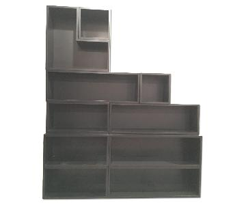 Customizable Modern Shelving in Black