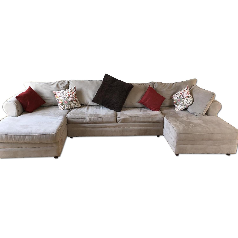 March Furniture U Shape 2 Chaise Sleeper Sectional Sofa ...