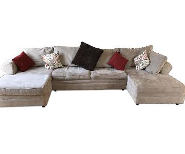 March Furniture U-Shape 2-Chaise Sleeper Sectional Sofa