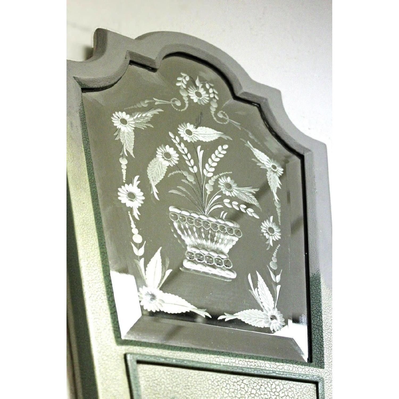 Mastercraft Handmade Etched Mirror Sconce/Lamp-3