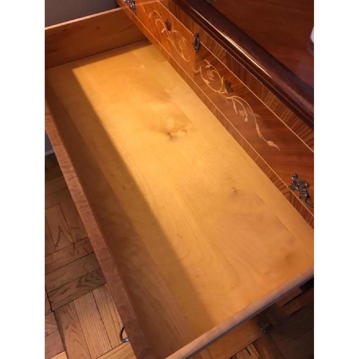 Vintage Roll Top Writing Desk w/ Drawers-3