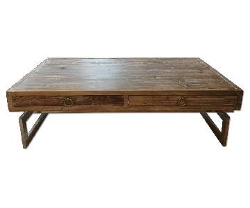 Lillian August Coffee Table in Distressed Grey