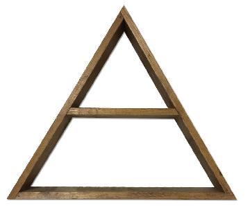 Apothecary Wood Triangle Shelf
