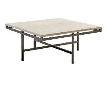 Hammary Gunmetal & Limestone Coffee Table