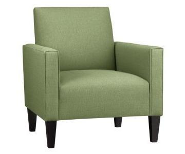 Crate & Barrel Camden Green Chair