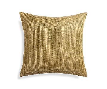 Crate & Barrel Stonewash Herringbone Pillow Cover