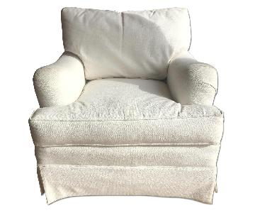 Henredon White Fabric Armchair