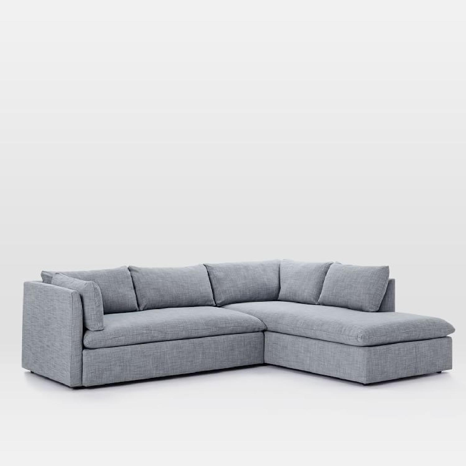 West Elm Shelter 2 Piece Terminal Chaise Sectional Sofa ...
