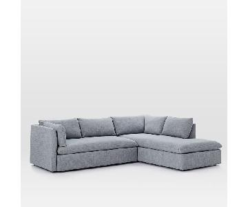 West Elm Shelter 2-Piece Terminal Chaise Sectional Sofa