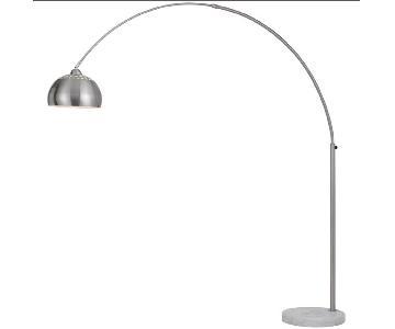 Langley Street Valeria Chrome Floor Arc Lamp