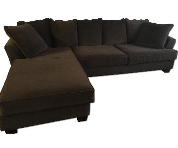 Dark Brown 2 Piece Sectional Sofa