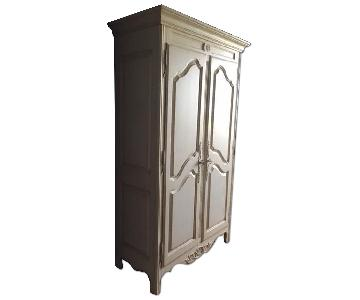 Classic Country French Armoire w/ Carvings