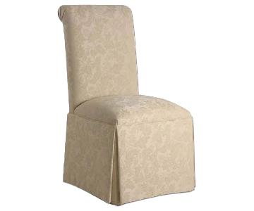 Ethan Allen Silk Roll Back Dining Chair