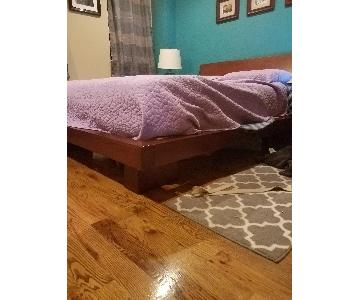Haiku Designs Hiro Platform Bed Frame in Warm Ebony