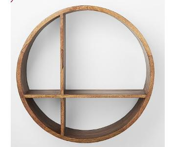 West Elm Round Shape Wall Shelf