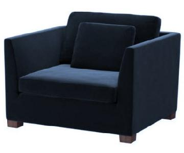 Ikea Stockholm Chair and a Half in Navy