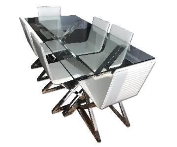 Z Gallerie Axis Table w/ 6 Axis Chairs