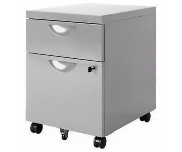 Office Depot 2 Drawer Filing Cabinet on Wheels w/ Lock