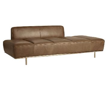 CB2 Lawndale Saddle Leather Daybed