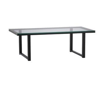 Crate & Barrel Mix Glass Coffee Table