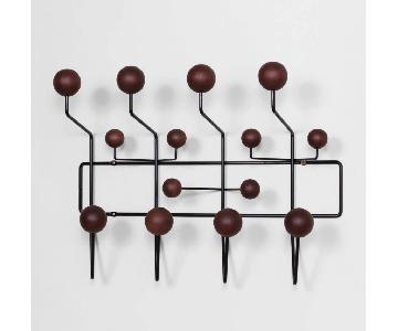 Eames Hang-It-All Black & Walnut Coat Rack Replica