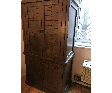 Vintage Wood Cabinet/Armoire