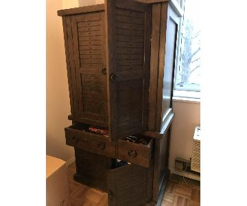 Vintage Wood Cabinet/Armoire