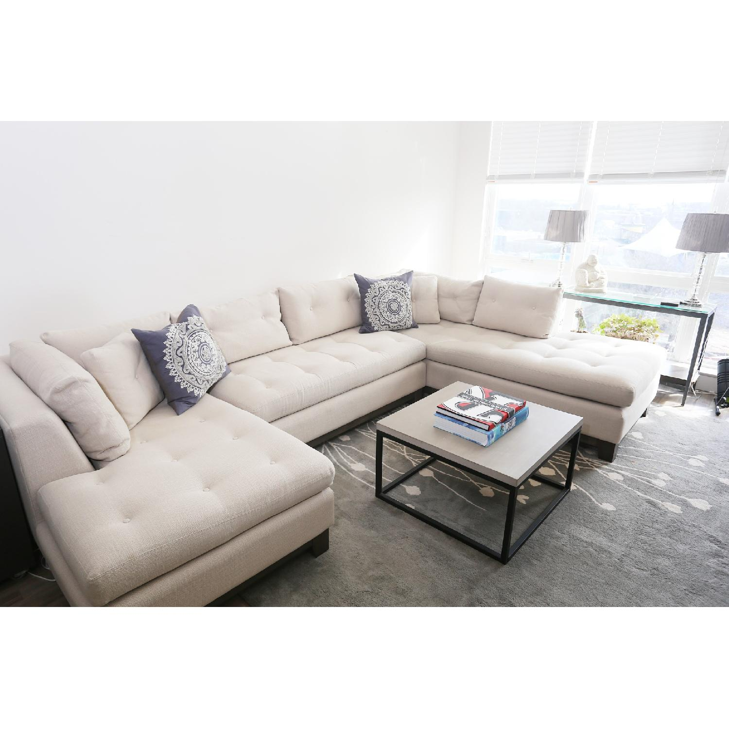 ... Lillian August 3 Piece Tufted Sectional Sofa 0 ...