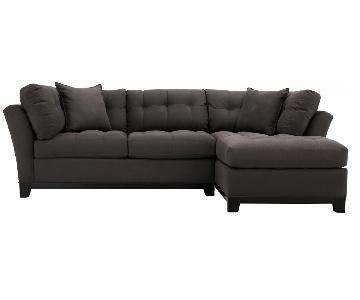 Raymour & Flanigan Cindy Crawford Microfiber Sectional Sofa