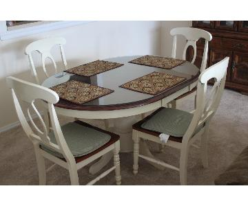 Ashley 5 Piece Pedestal Cottage Dining Set