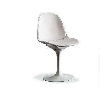 Bontempi Modern Swivel Nicla Leather Dining Chair