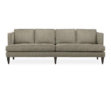 Room & Board Hutton Gray Pattern Sofa