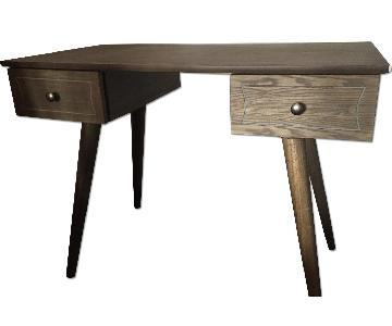 Wood Desk w/ 2 Drawers