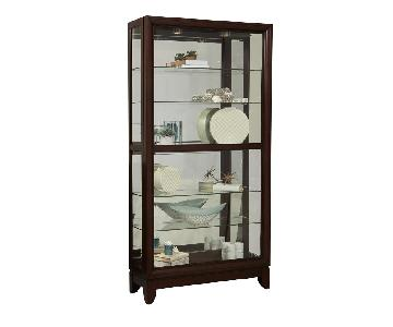 Pulaski Cherry Two Way Sliding Door Curio Cabinet