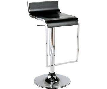 One King's Lane Black & Chrome Adjustable Swivel Stool