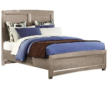 All-American Transitions King Panel Bed in Driftwood Oak