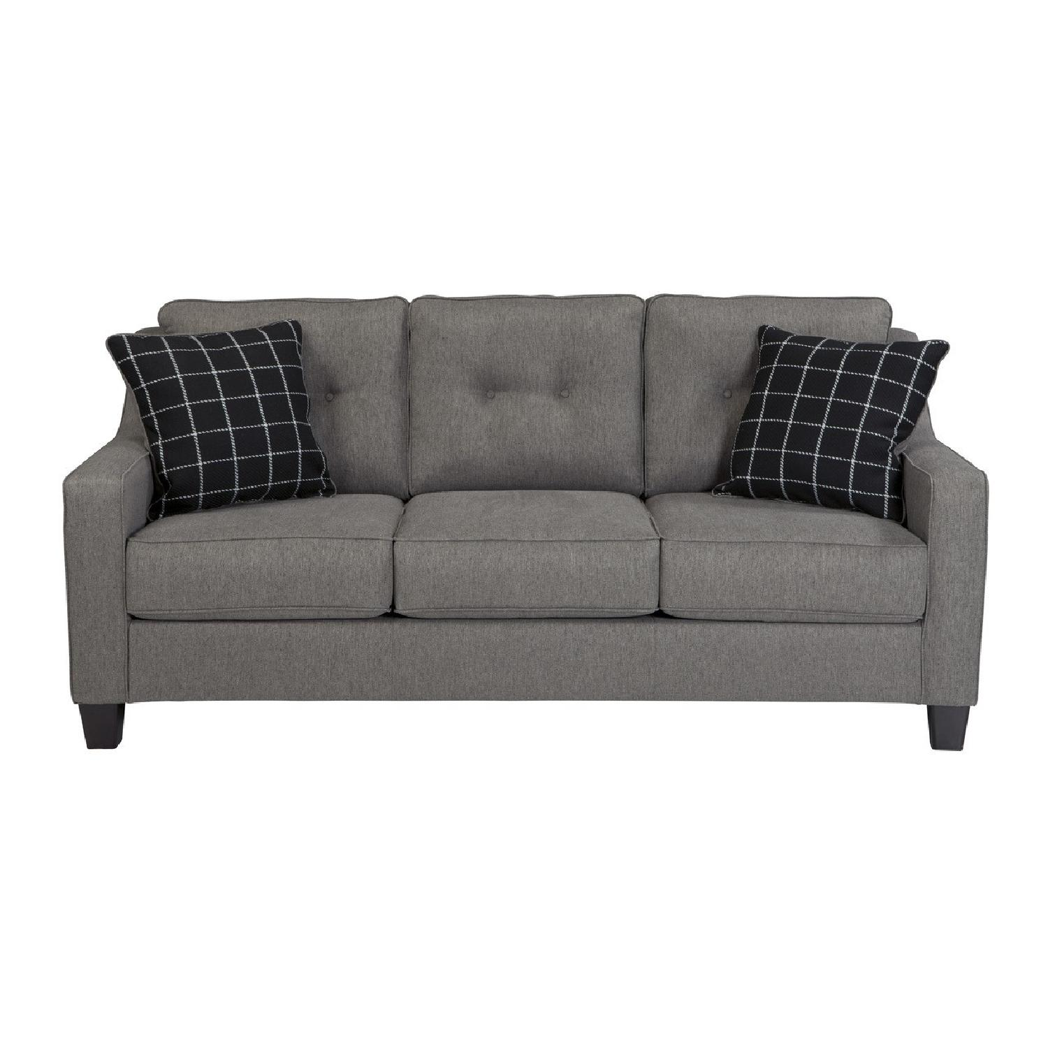 Ashley Brindon Queen Sleeper Sofa In Charcoal ...