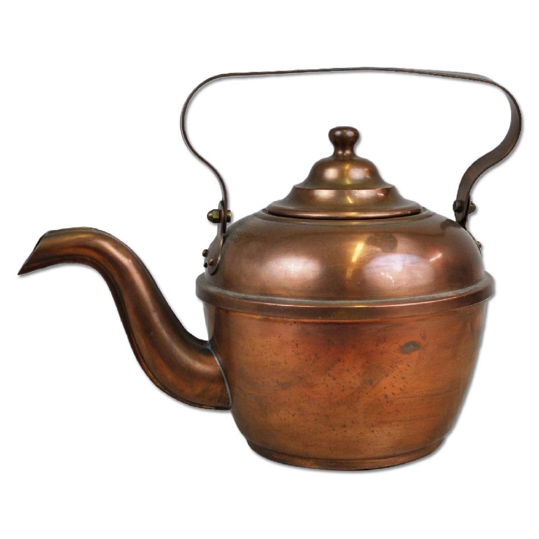 Antique English Copper Teapot Tea Kettle Aptdeco