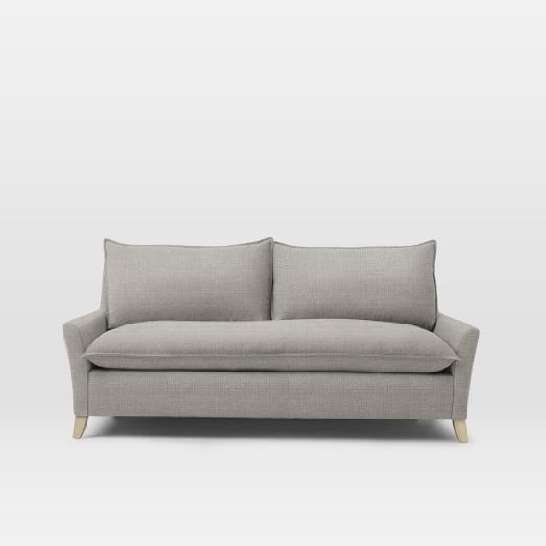 West Elm Bliss Queen Sleeper Sofa in Feather Gray