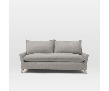 West Elm Bliss Queen Sleeper Sofa in Feather Gray