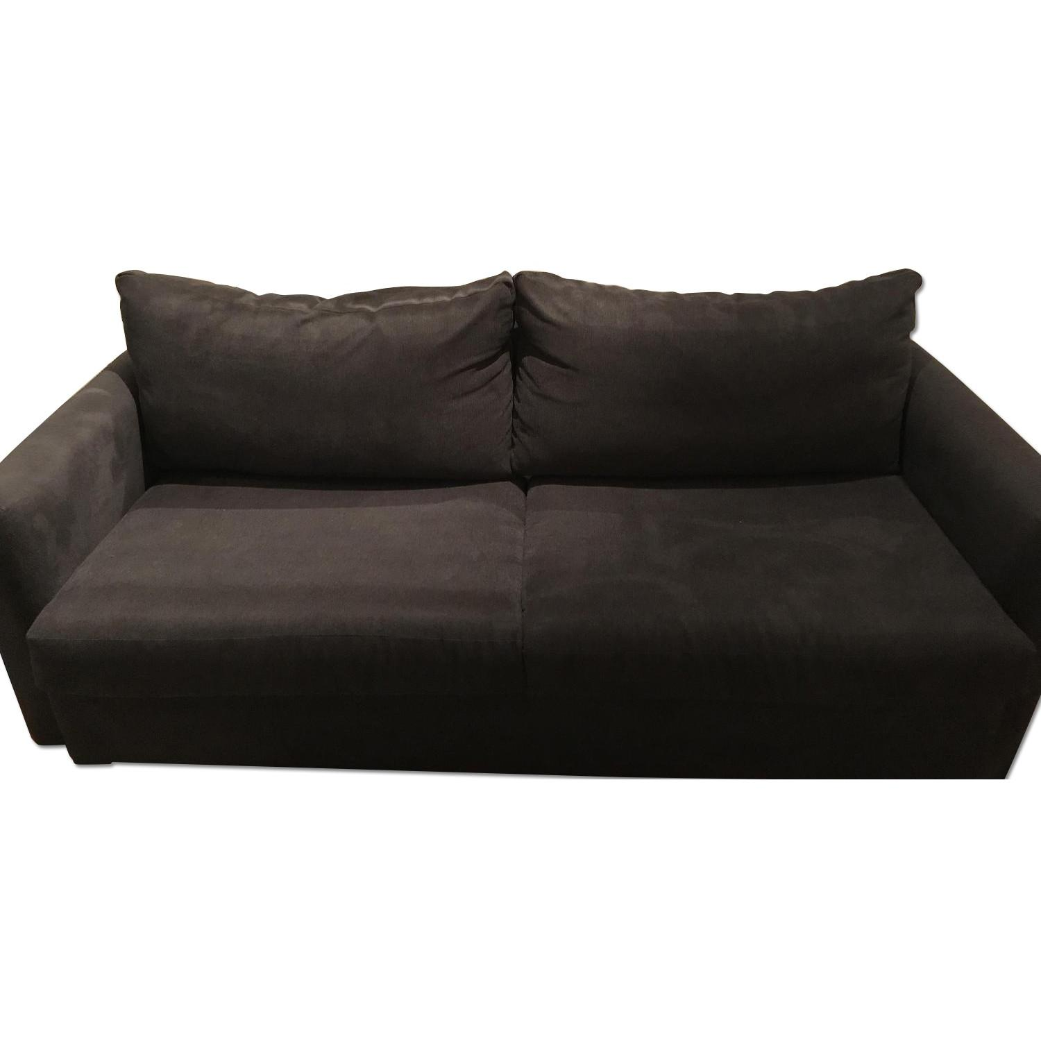 Bob S Heather Grey Queen Size Sleeper Sofa Aptdeco ~ Queen Sleeper Sofa Dimensions When Open
