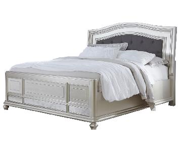 Ashley Coralayne King Panel Bed in in Silver