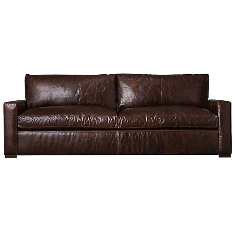Restoration Hardware Maxwell Leather Sofa ...