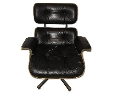 Frank Doerner Eames Style Lounger & Eames Ottoman