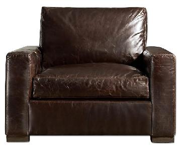 Restoration Hardware Maxwell Leather Chair and a Half
