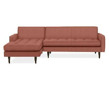 Room & Board Reese Sectional Sofa w/ Left-Arm Chaise