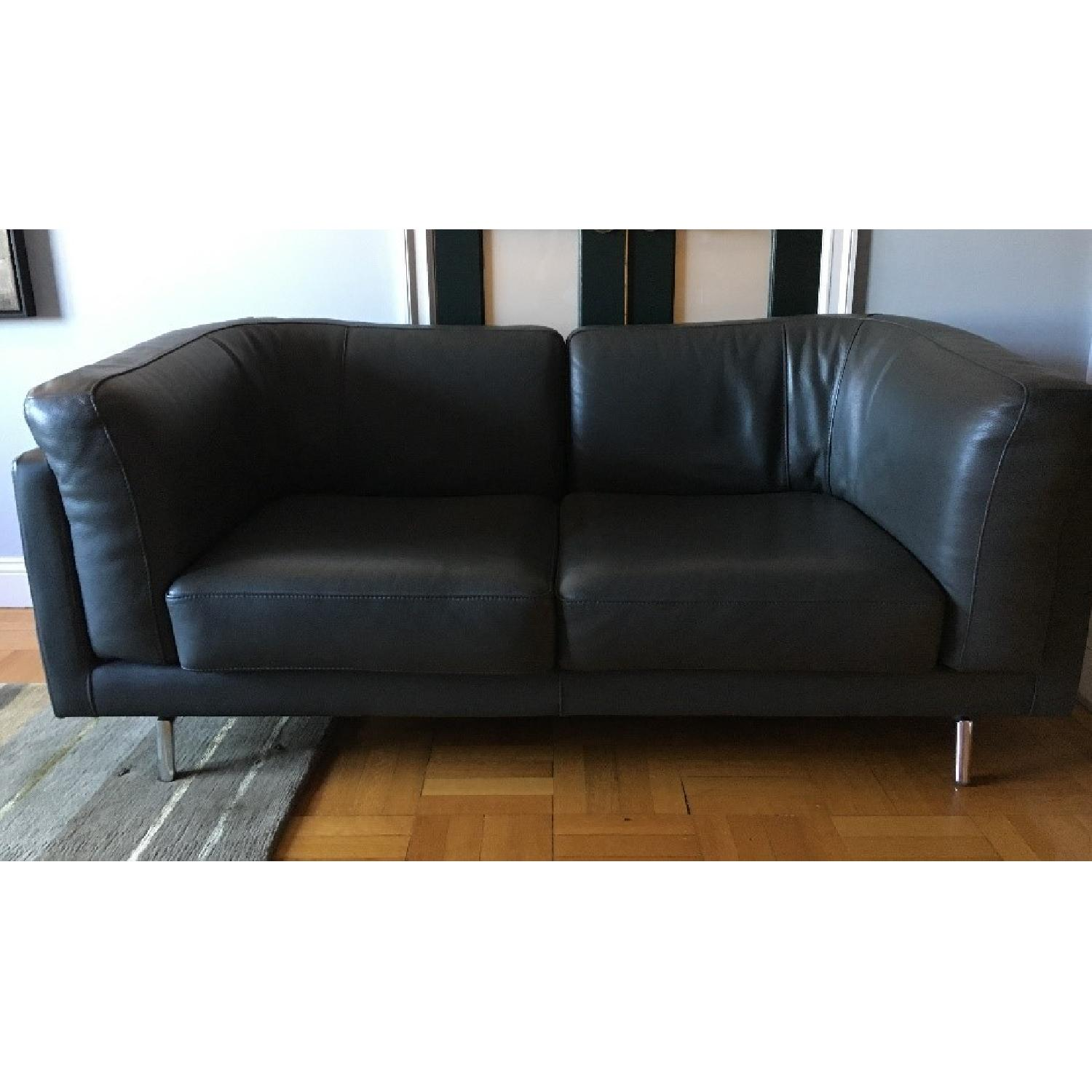 Maurice Villency Apartment Size Leather Sofa Aptdeco ~ Apartment Size Leather Sofa