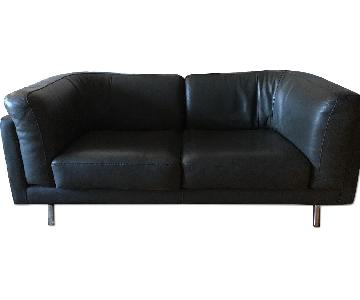 Maurice Villency Apartment Size Leather Sofa